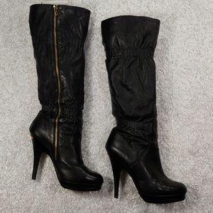 Michael Kors Black High Heel Tall Boots